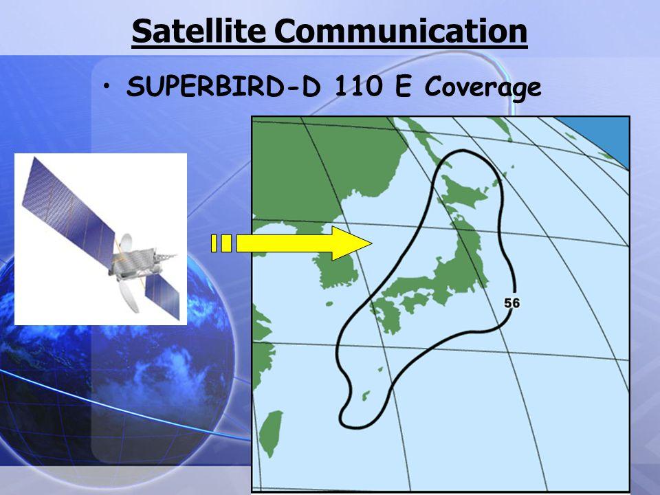 Satellite Communication SUPERBIRD-D 110 E Coverage