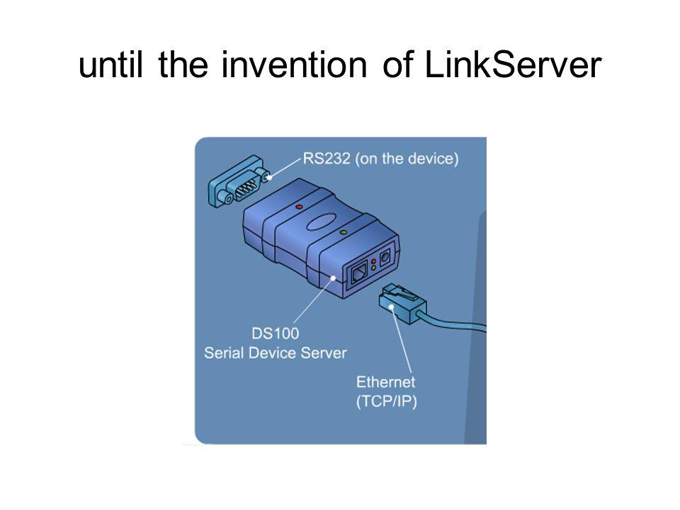until the invention of LinkServer