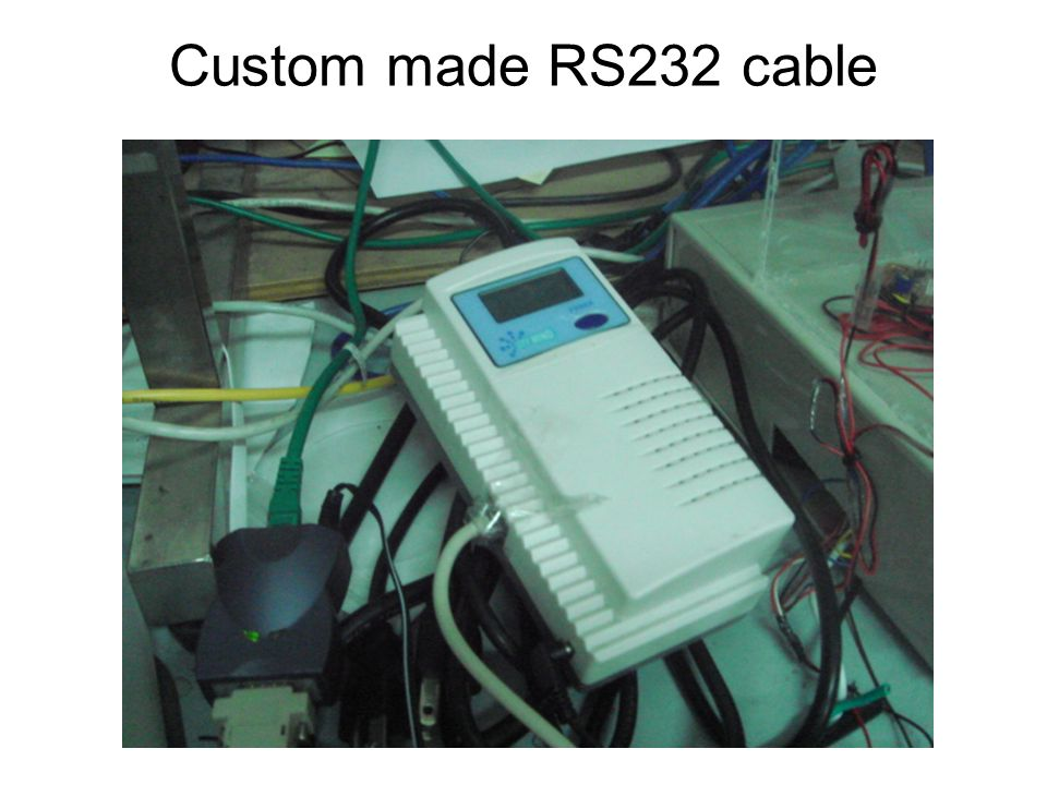 Custom made RS232 cable