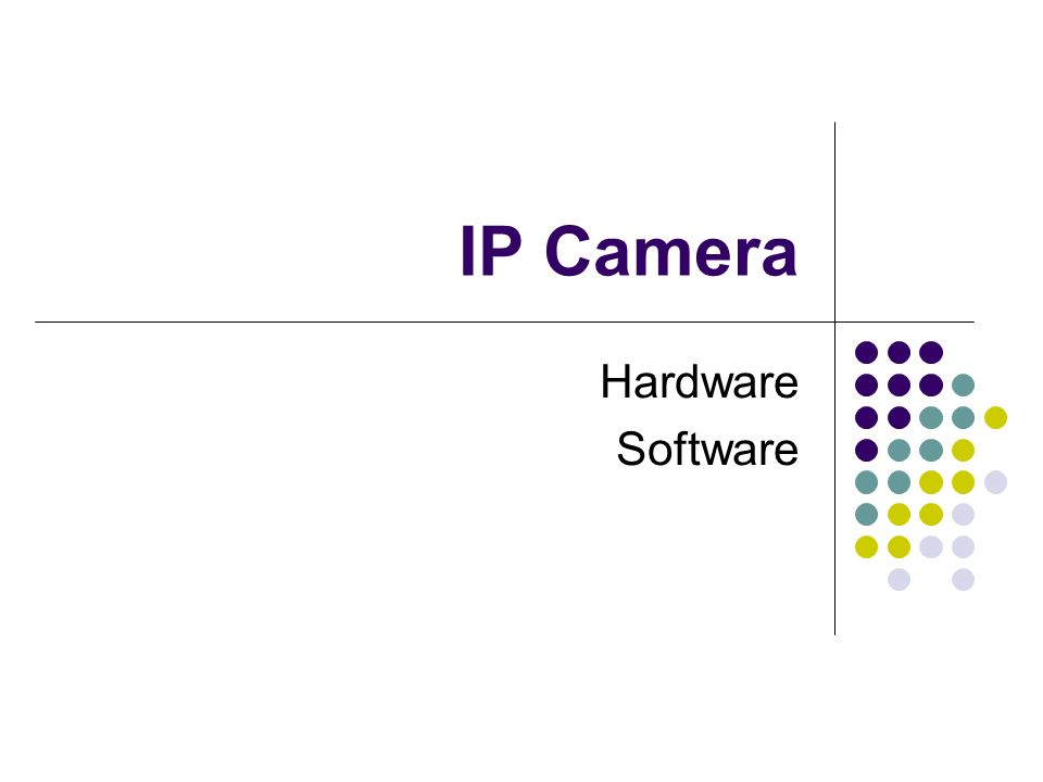 IP Camera Hardware Software
