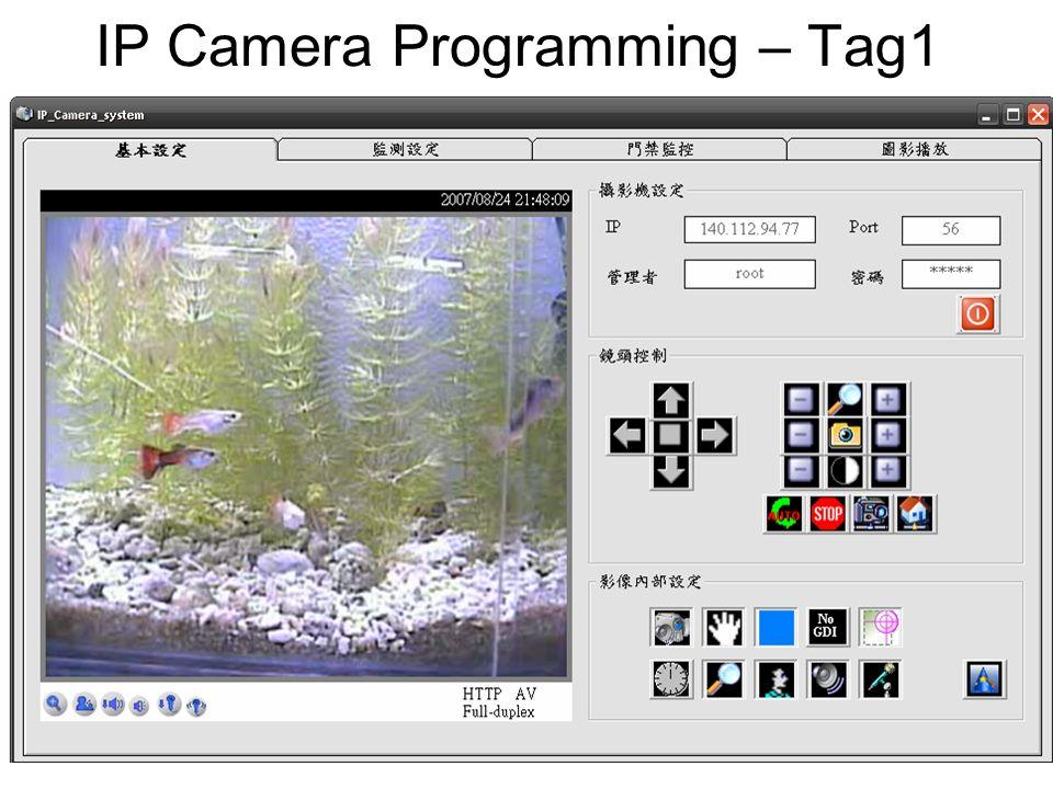 IP Camera Programming – Tag1