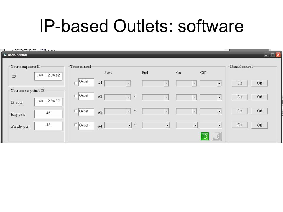 IP-based Outlets: software