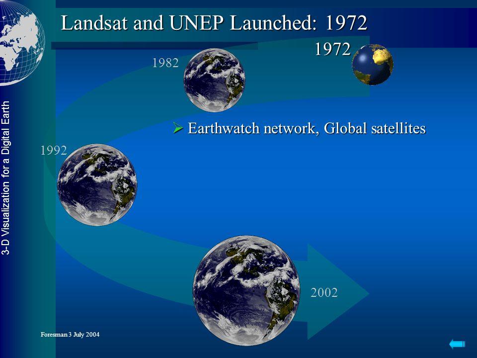 3-D Visualization for a Digital Earth Foresman 3 July 2004 Gateway to a Digital Earth 2004...