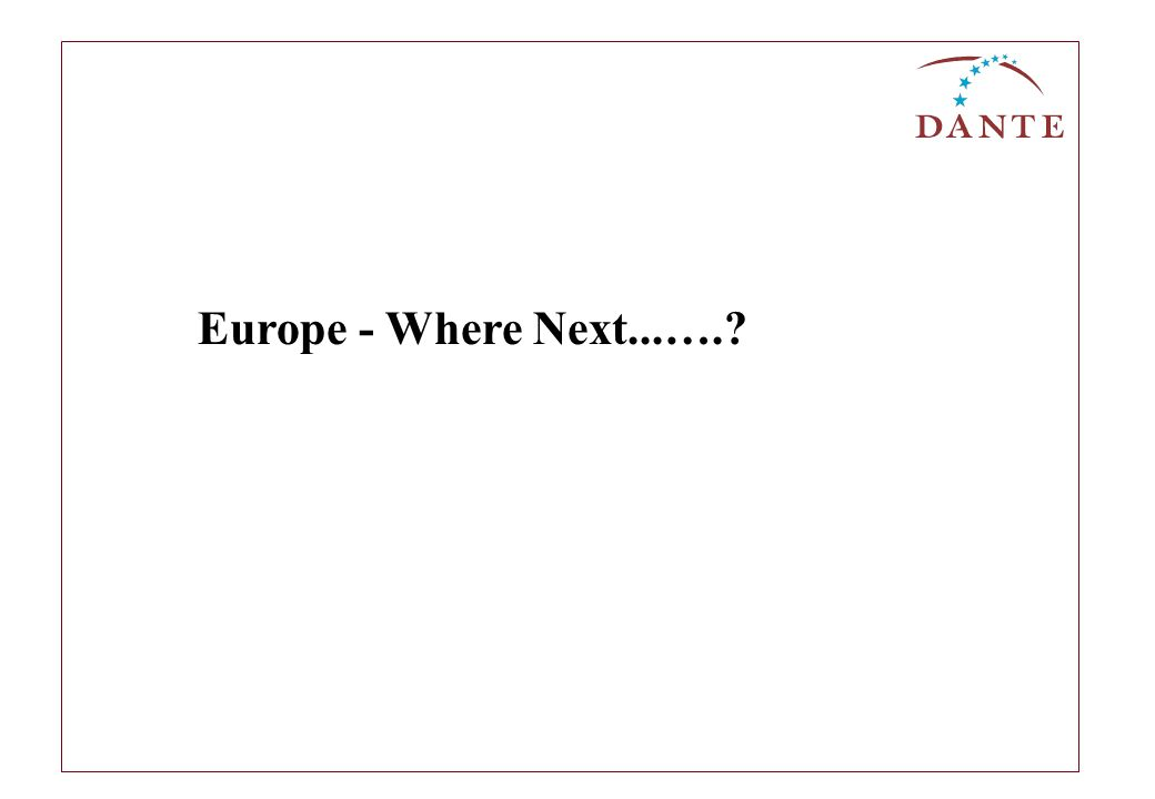 Europe - Where Next...….?