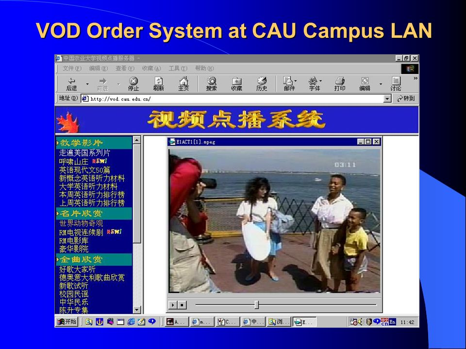 VOD Order System at CAU Campus LAN