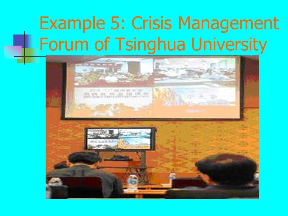 Example 5: Crisis Management Forum of Tsinghua University