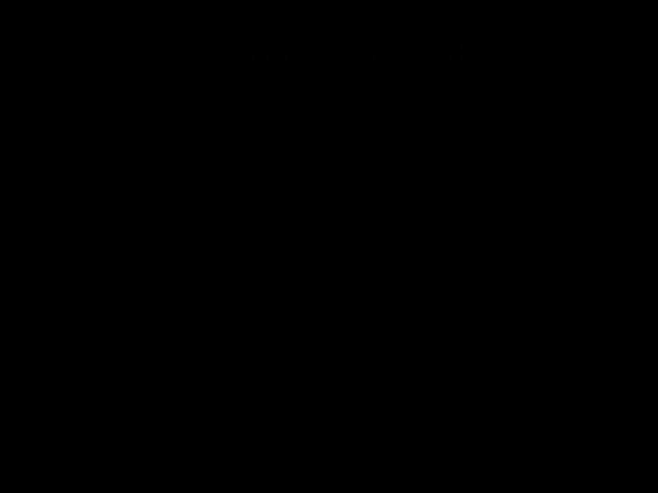 3. Demonstration – Video Clip