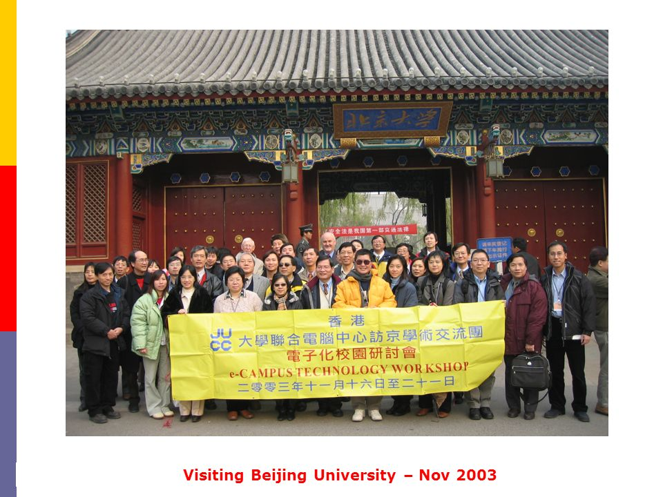 Visiting Beijing University – Nov 2003