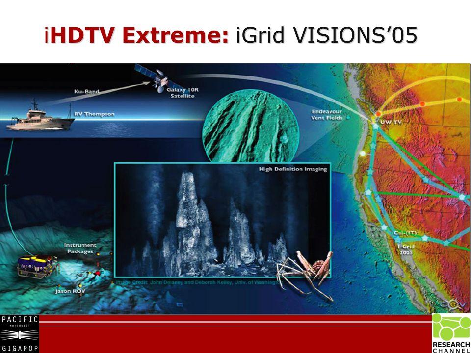 iHDTV Extreme: iGrid VISIONS05 iHDTV Extreme: iGrid VISIONS05