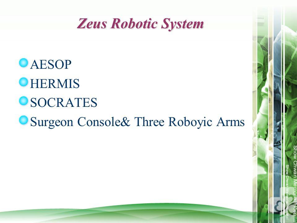 Zeus Robotic System AESOP HERMIS SOCRATES Surgeon Console& Three Roboyic Arms