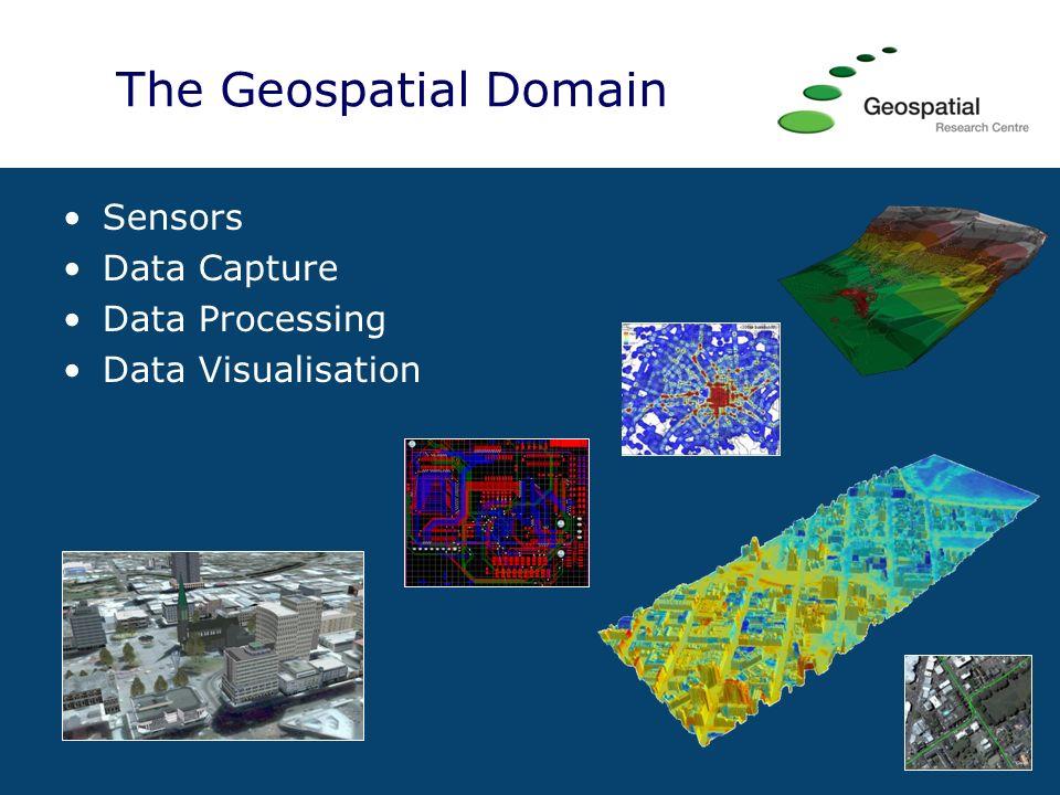 The Geospatial Domain Sensors Data Capture Data Processing Data Visualisation