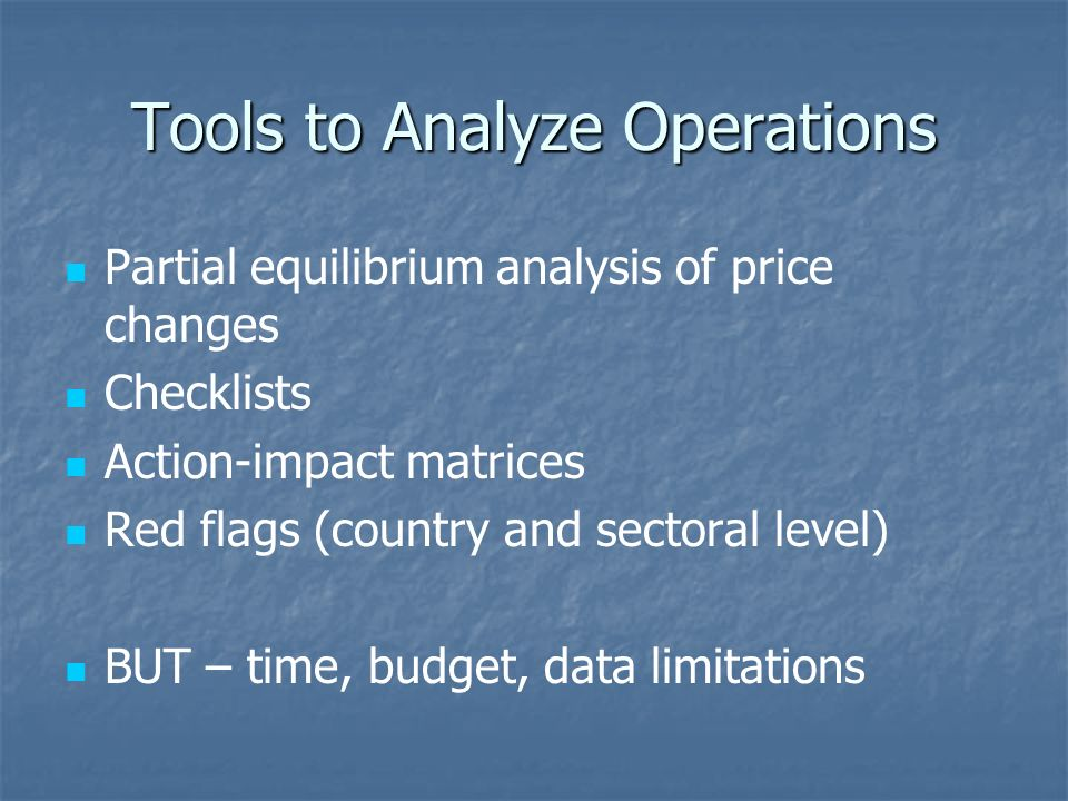 Strategic/Analytic Tools Country Environment Analysis (CEA) Country-wide Strategic Environment Assessment (SEA) Sectoral or regional Other Economic and Sector Work (ESW) on the environment