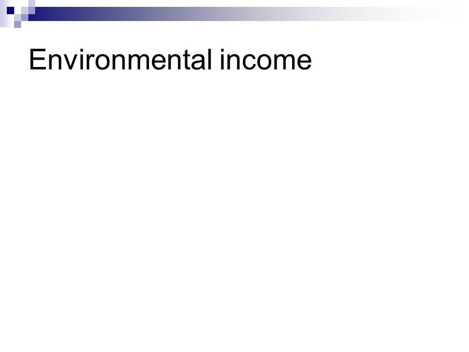 Environmental income
