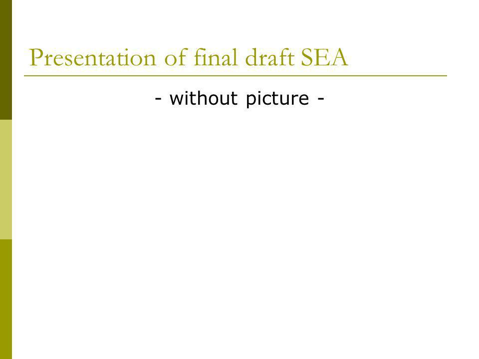 Presentation of final draft SEA - without picture -