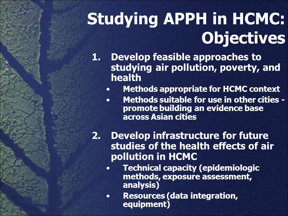 Studies on the health effects of air pollution in Asia, 1980 – Sep 2007* *Public Health and Air Pollution in Asia – Science Access on the Net (PAPA-SAN) www.healtheffects.org/international