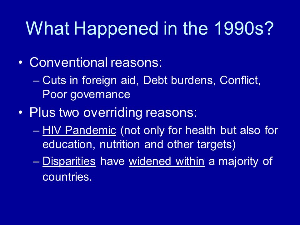 What Happened in the 1990s.
