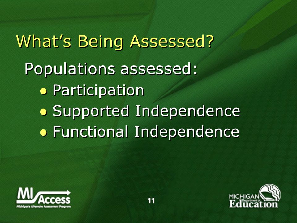 11 Whats Being Assessed.