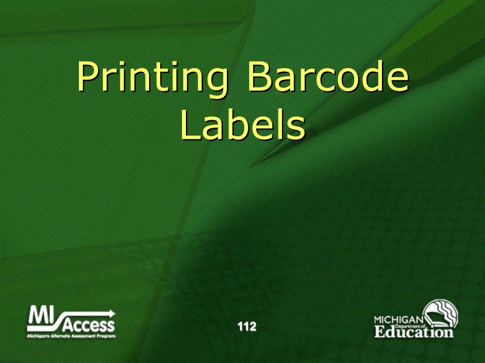 112 Printing Barcode Labels