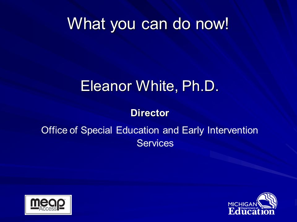Eleanor White, Ph.D.
