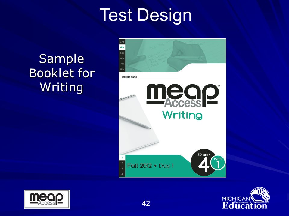 42 Sample Booklet for Writing Test Design