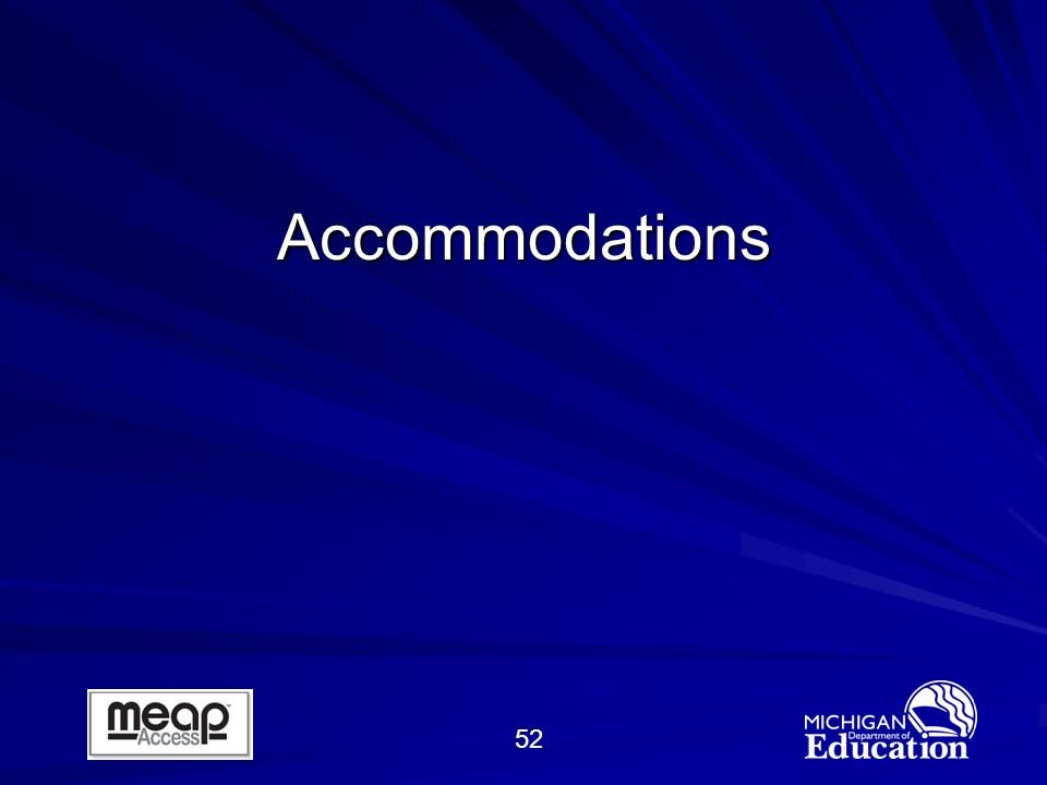 52 Accommodations