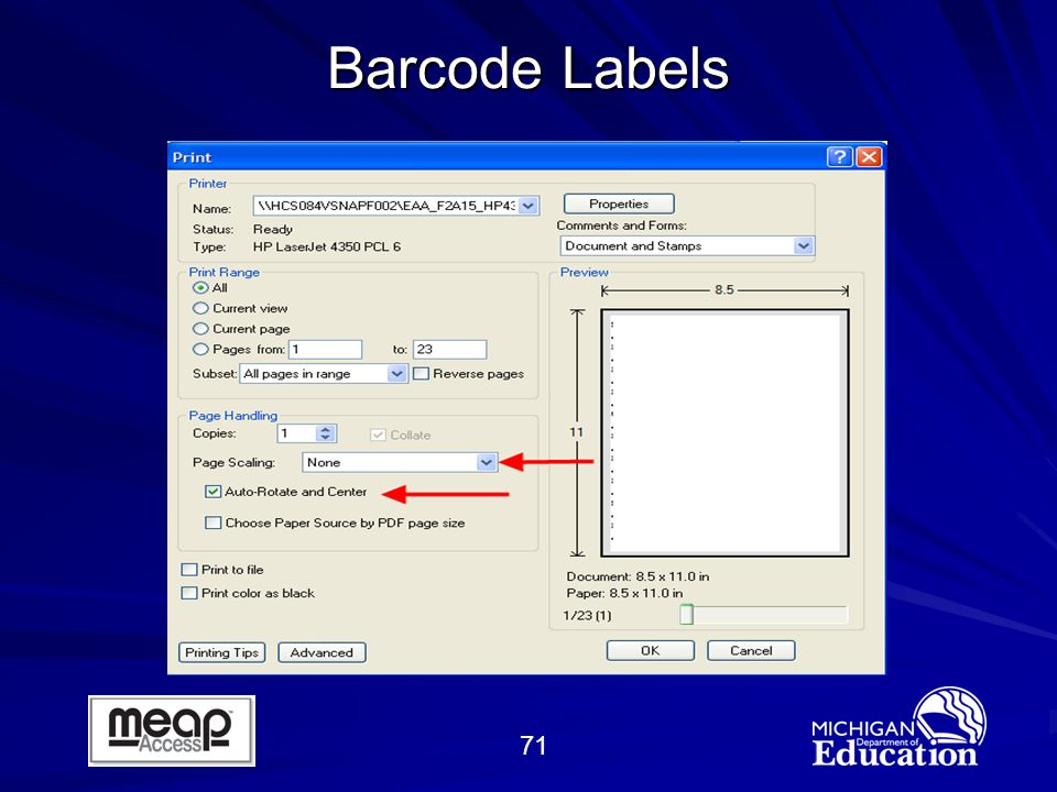 71 Barcode Labels