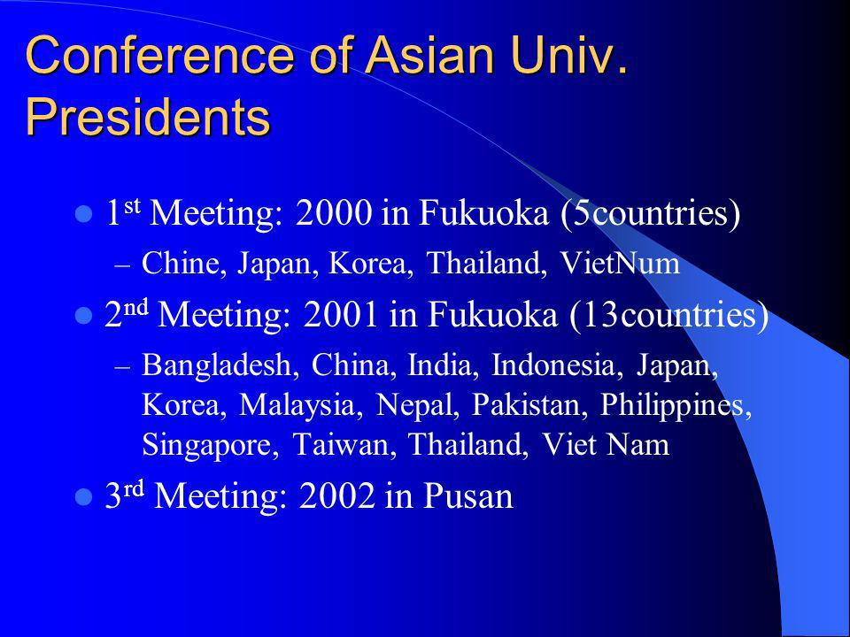 Conference of Asian Univ.