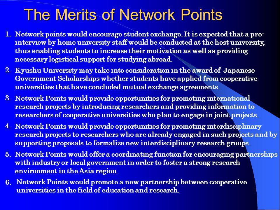 The Merits of Network Points Network points would encourage student exchange.