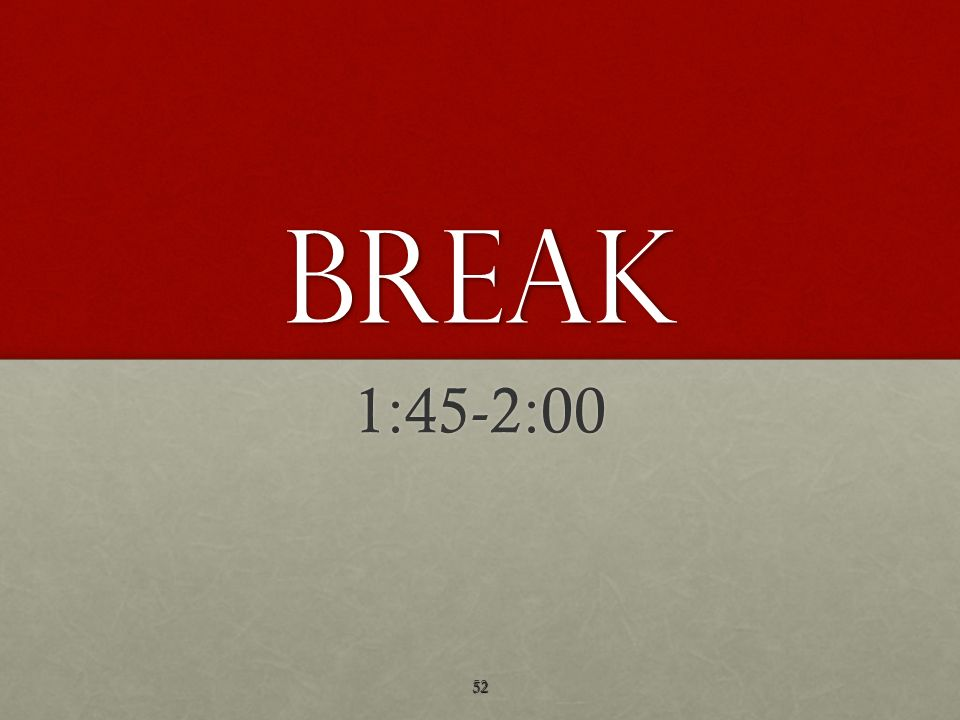 BREAK 1:45-2:00 52