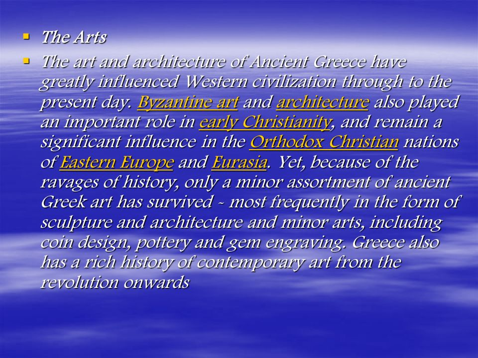 GREEK HISTORY This article covers the Greek civilization.