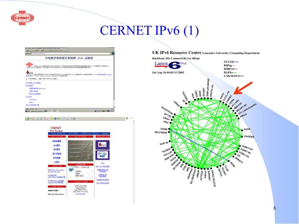 6 CERNET IPv6 (1)