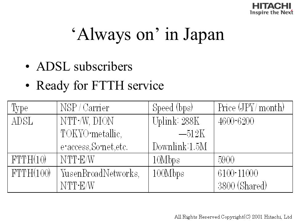 xDSL Subscribers in Japan http://www.mpt.go.jp/eng/