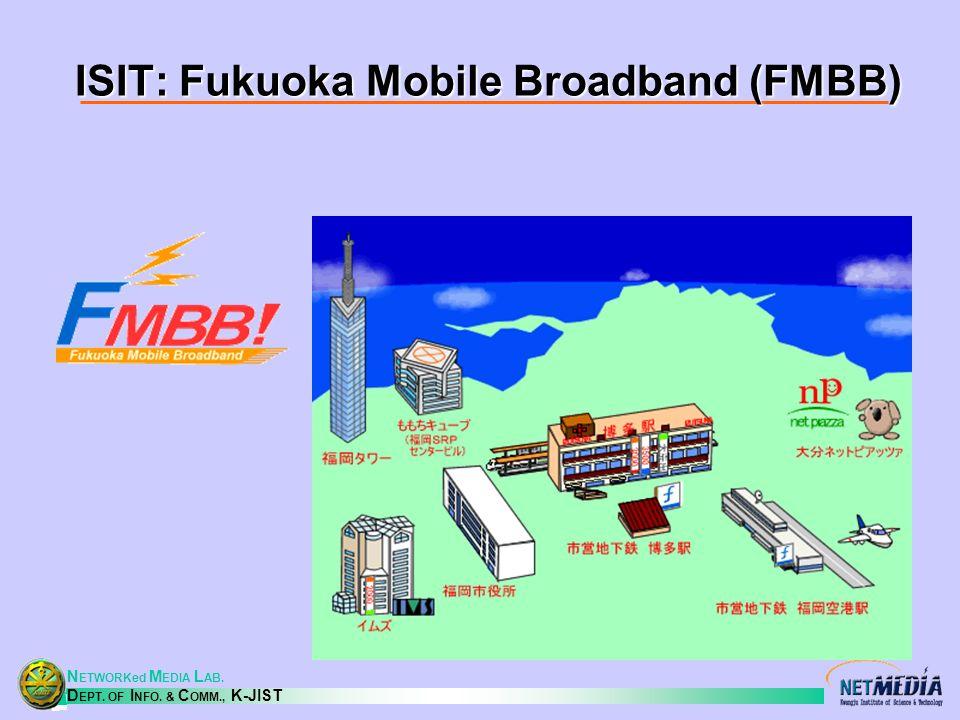 N ETWORKed M EDIA L AB. D EPT. OF I NFO. & C OMM., K-JIST ISIT: Fukuoka Mobile Broadband (FMBB)