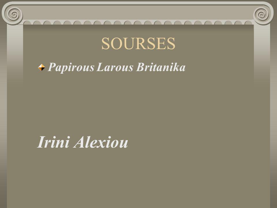 SOURSES Papirous Larous Britanika Irini Alexiou
