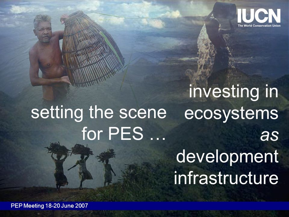 investing in ecosystems as development infrastructure PEP Meeting 18-20 June 2007 setting the scene for PES …