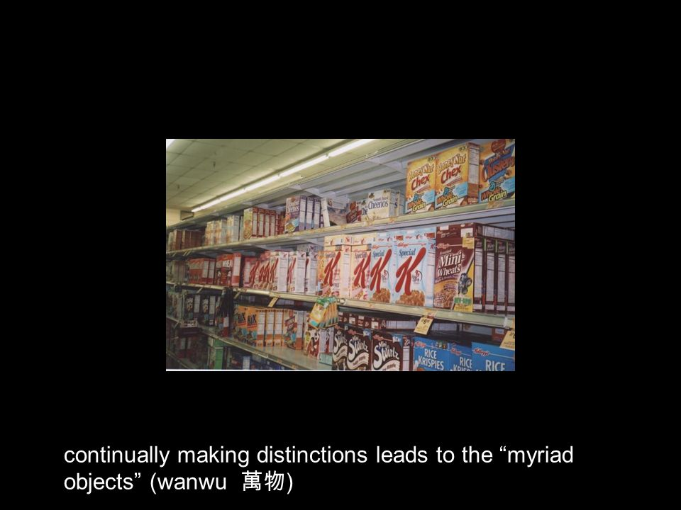 continually making distinctions leads to the myriad objects (wanwu )