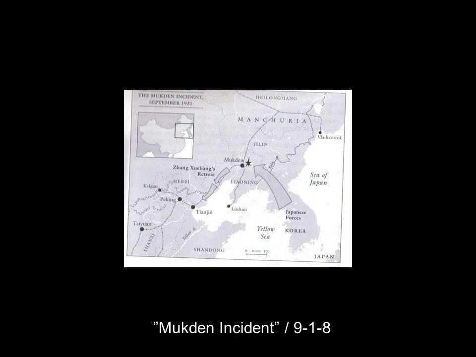 Mukden Incident / 9-1-8