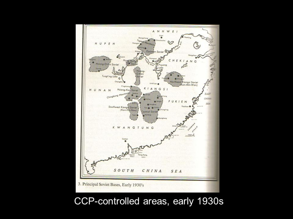 CCP-controlled areas, early 1930s