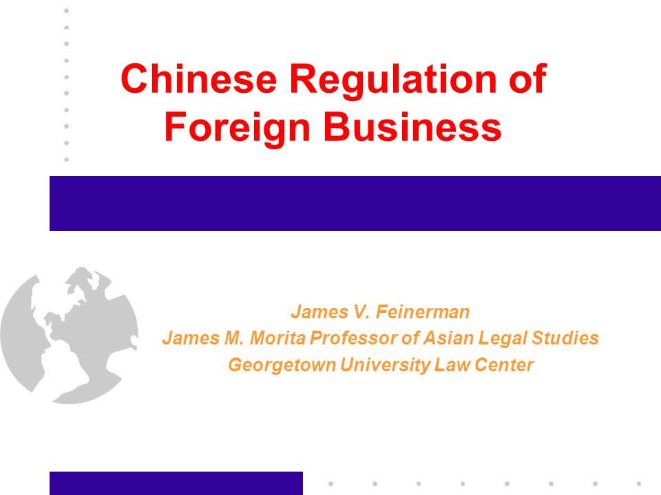 32 The Legal Regime: Foreign Investment (2) Regulation for Contracted Operation of Chinese-Foreign Equity Joint Ventures Provisional Regulations of the Peoples Republic of China on Investment Companies Established by Foreign Investors Provisional Regulations on the Establishment of Foreign- Funded Joint Stock Companies Limited