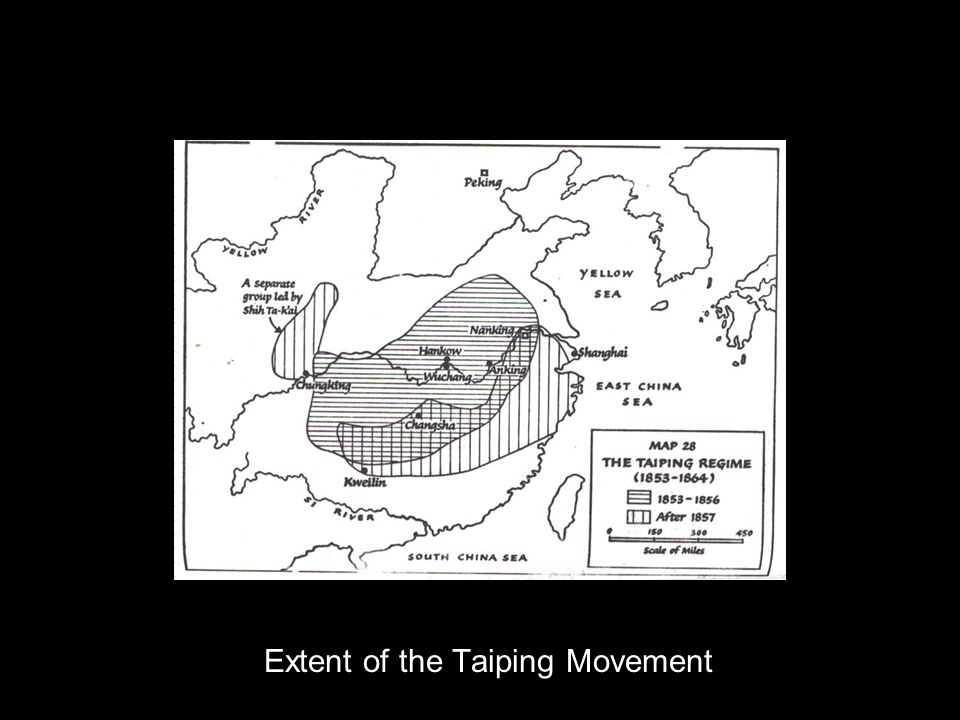 Extent of the Taiping Movement