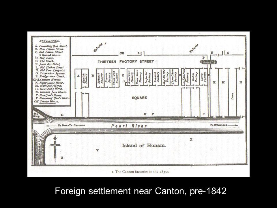 Foreign settlement near Canton, pre-1842