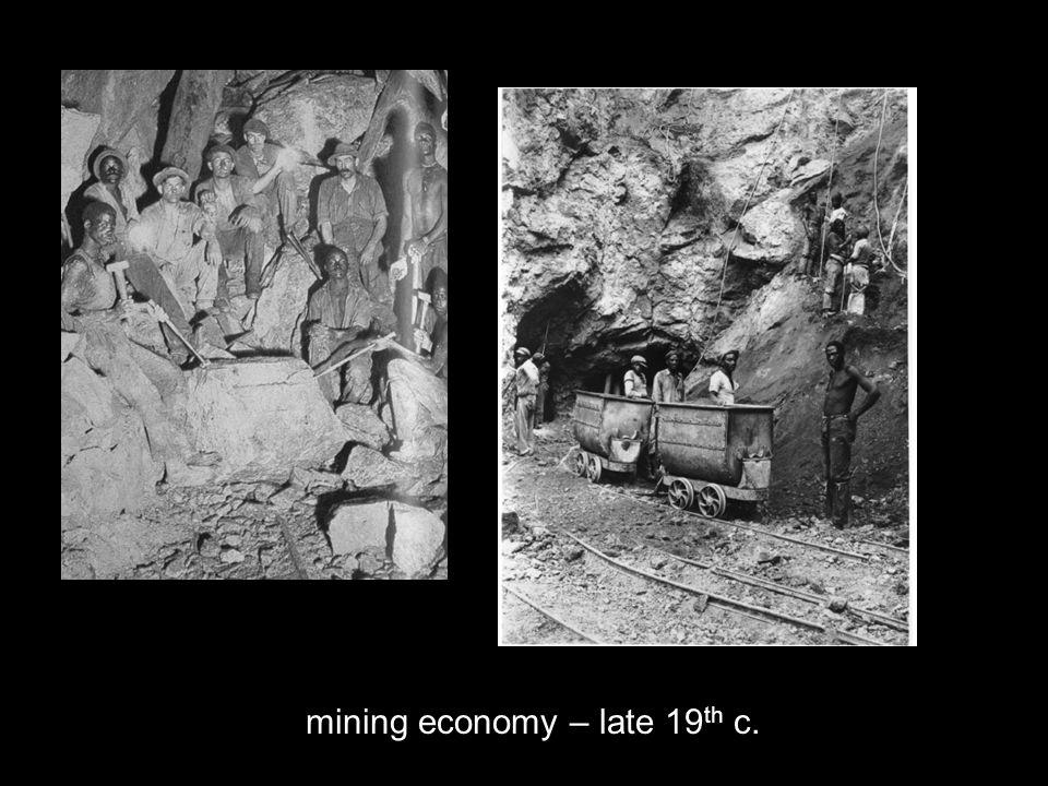 mining economy – late 19 th c.