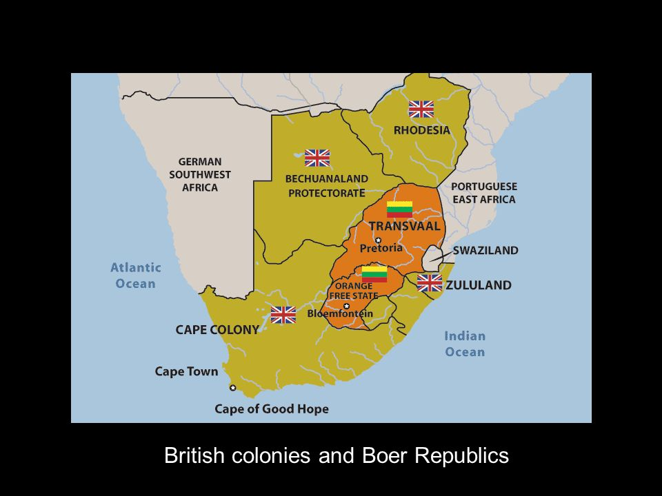 British colonies and Boer Republics