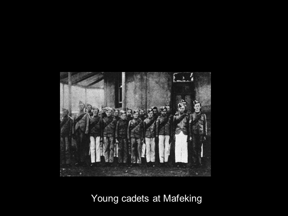 Young cadets at Mafeking
