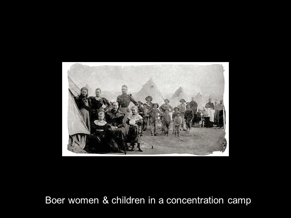 Boer women & children in a concentration camp