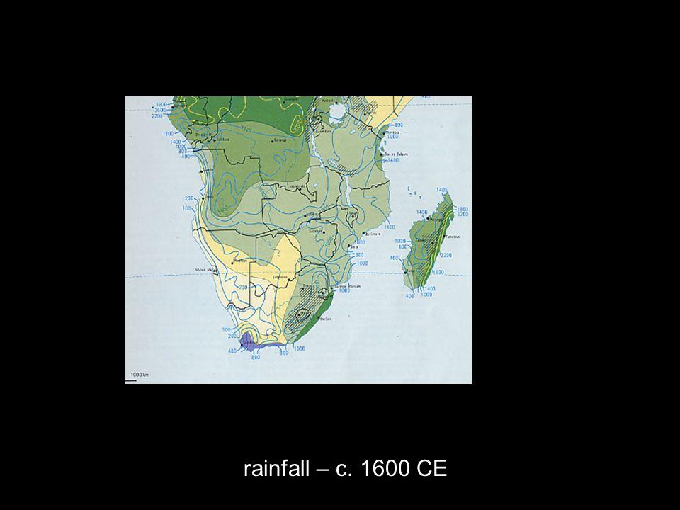 rainfall – c. 1600 CE