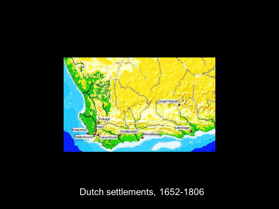 Dutch settlements,