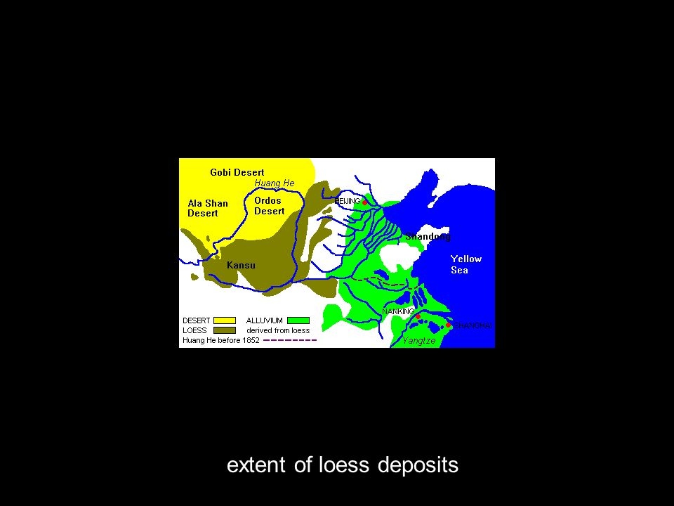 extent of loess deposits