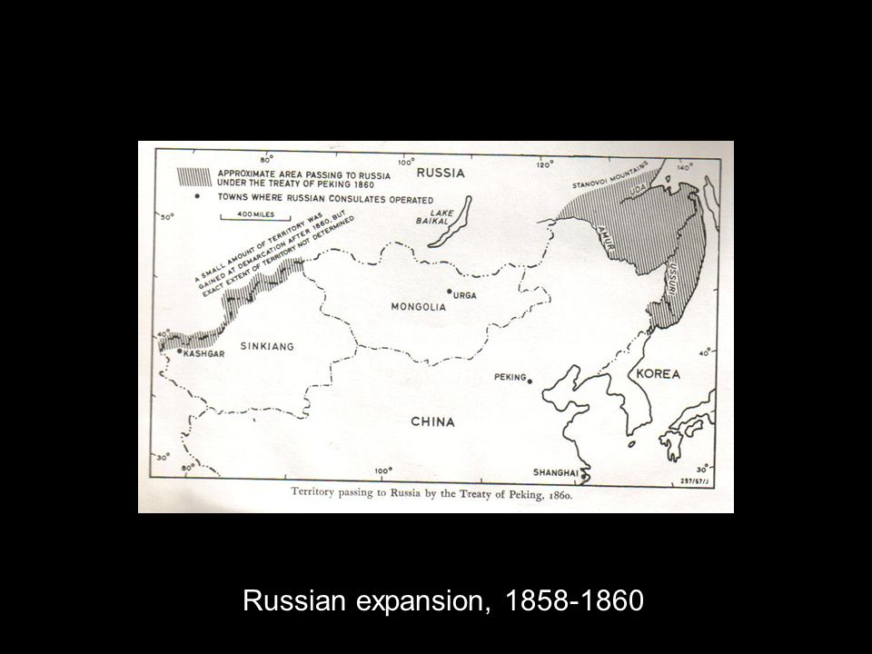 Russian expansion, 1858-1860
