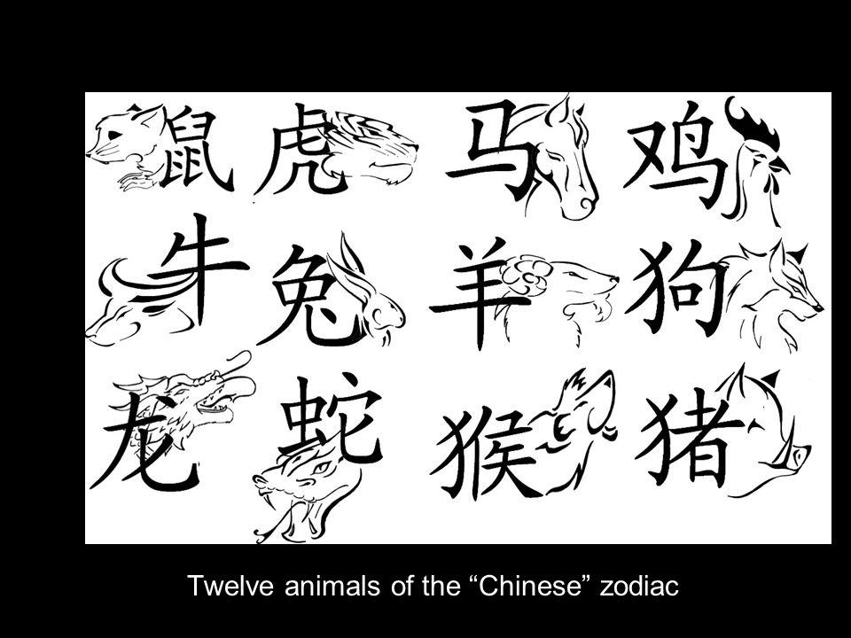 Twelve animals of the Chinese zodiac